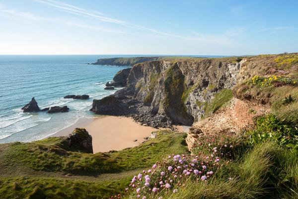 Bedruthan Steps, Cornwall, England