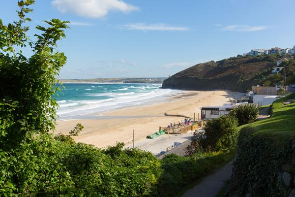 Carbis Bay, Cornwall, near St Ives on the South West Coast Path