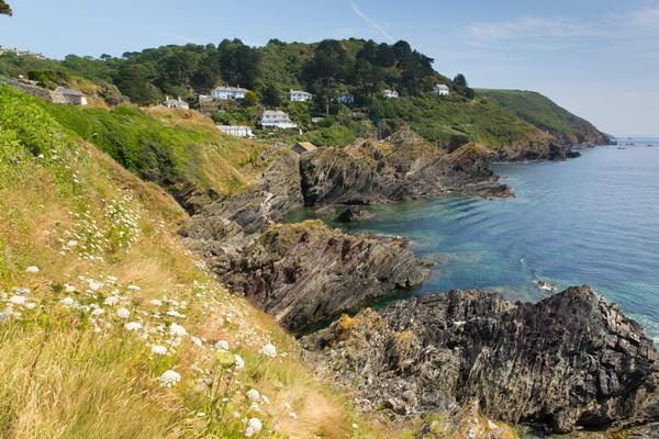 View from South West Coast Path near Polperro, Cornwall