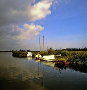 Boats at Horsey Mere on the Norfolk Broads