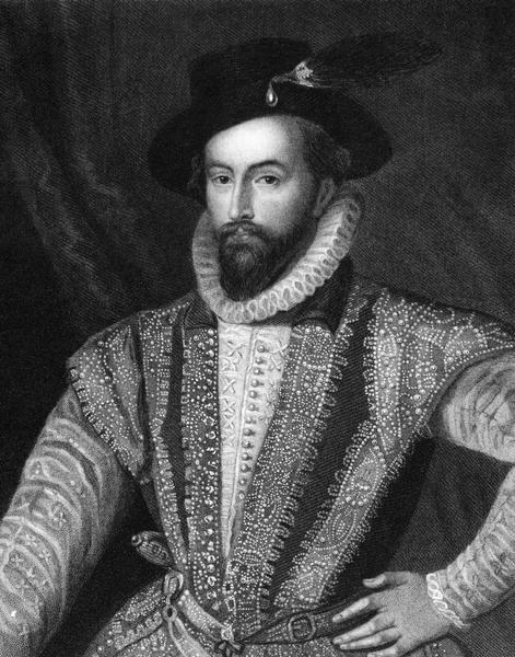 Engraving of Sir Walter Raleigh