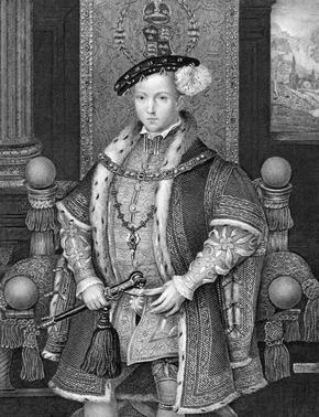 Engraving of Edward VI