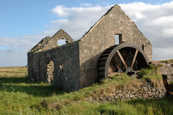 An old watermill on a Scottish island