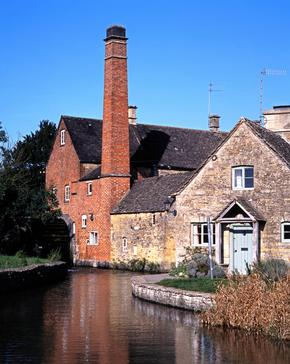 The Old Mill on the River Eye, Lower Slaughter, Gloucestershire, Cotswolds, England