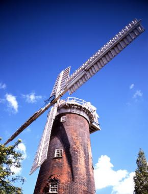 Brick Windmill, Woodbridge, Suffolk, England