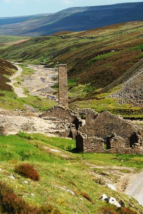 Old Gang Lead Mine Smelt Mill, Yorkshire dales national park.