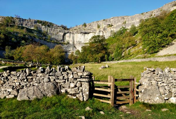 Malham Cove and gate