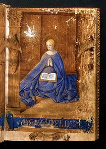 The de Croy Book of Hours, 1400s, French, associated with Jean Fouquet. From the Ruskin Collection at the Millennium Gallery. Courtesy the Guild of St George and Museums Sheffield.