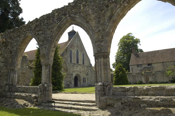 Palace House viewed through the Abbey Ruins, Beaulieu