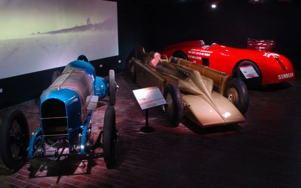 Vintage racing cars at Beaulieu Motor Museum