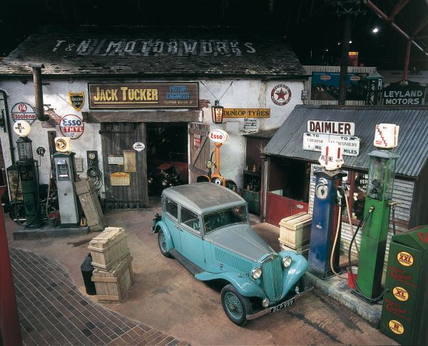 Jack Tuckers Garage in the National Motor Museum, Beaulieu