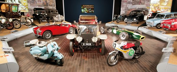 Entrance hall to the National Motor Museum at Beaulieu