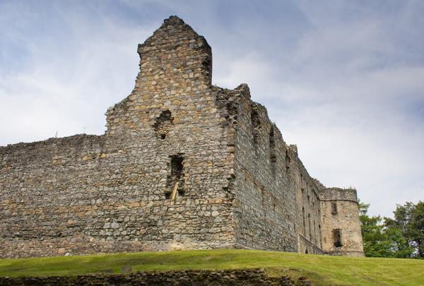 The Ruins of Balvenie Castle which was built in the 12th Century