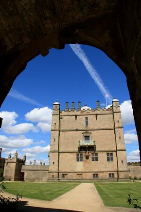 Bolsover Castle Courtyard seen through an archway