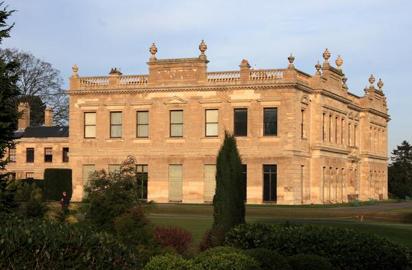 Brodsworth Hall at sunset