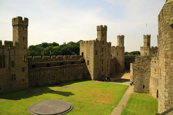 The Internal courtyard of Caernarvon Castle