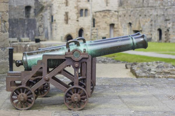 Cannon at Caernarfon Castle, North Wales