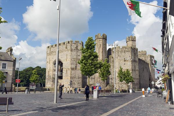 Caernarfon Castle seen from the Town Square