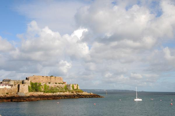 Castle Cornet as seen from the sea