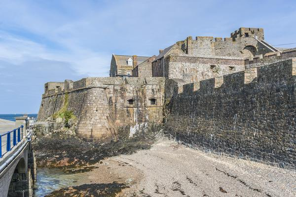 The outer walls of Castle Cornet