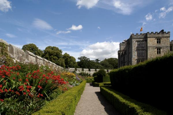 The immaculate walled garden at Chillingham Castle