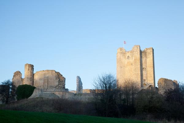 Conisbrough Castle in Yorkshire, UK
