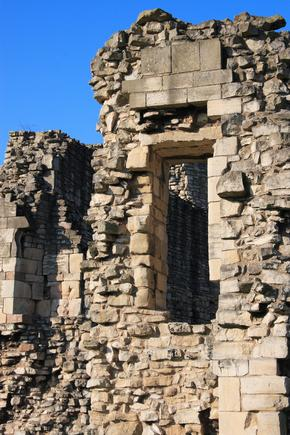 Window detail in the ruins of Conisbrough Castle