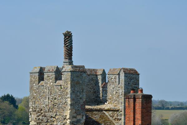 Decorative Chimney on the very top of Framlingham Castle