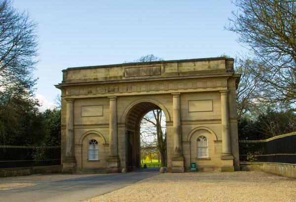 Impressive Entrance Gate to Harewood House