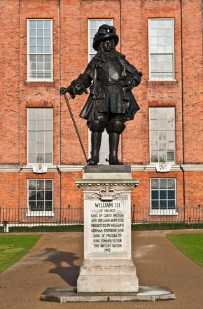 Statue of King William III outside Kensington Palace in London, England