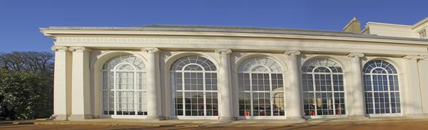 The distinctive curved windows of Kenwood House