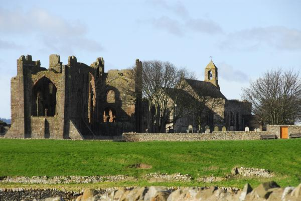 Lindisfarne Priory on a sunny day
