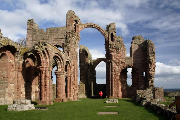 The ruins of Lindisfarne Priory, Holy Island