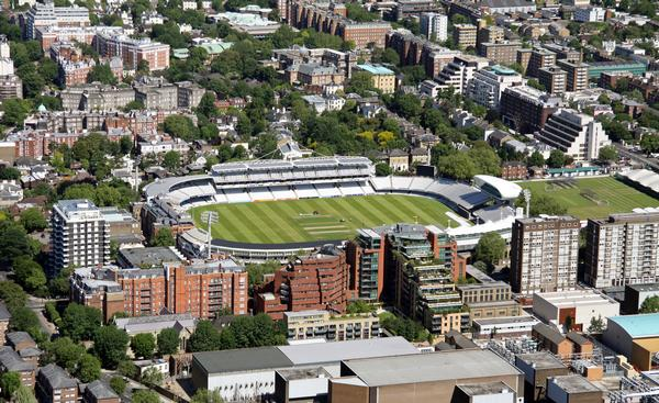 Aerial view of Lords cricket ground, London