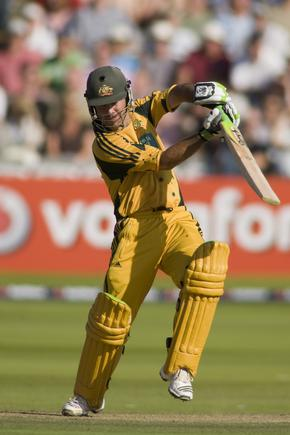 Australia team captain Ricky Ponting playing in a one day international cricket at Lords Cricket ground.