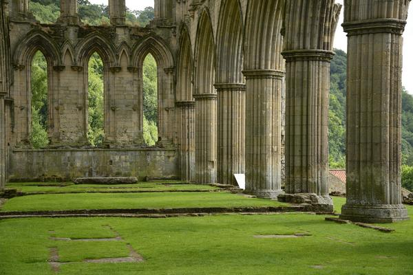 Columns in the Ruins of Rievaulx Abbey
