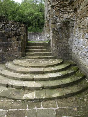 Steps at Rievaulx Abbey, North Yorkshire