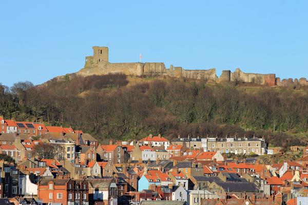 Scarborough Castle high above the Old Town
