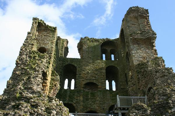 The interior of ruined Scarborough Castle