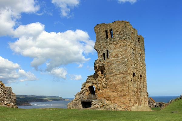 View of Scarborough Castle ruins
