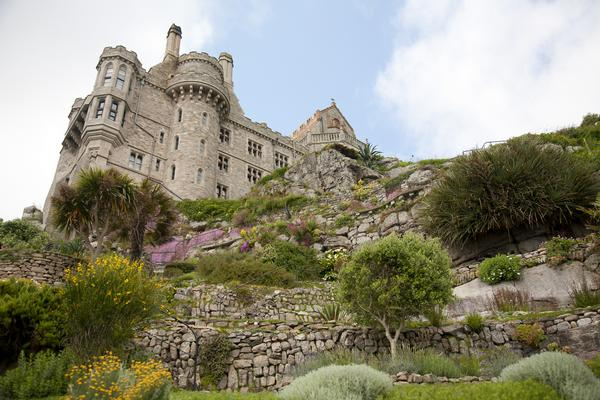 View of St. Michael's Mount Castle from below