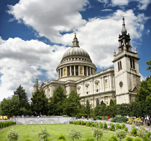View of St Paul's Cathedral with Garden