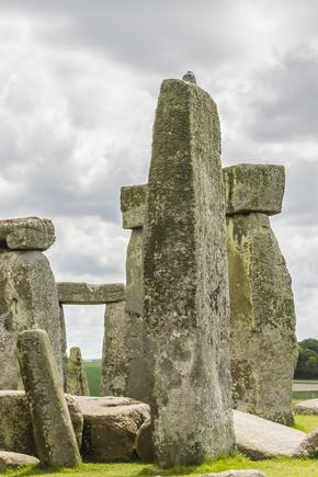 Stonehenge in Wiltshire on an overcast day