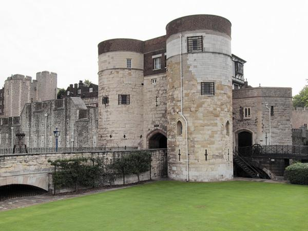 The entrance gate and towers at the Tower of London