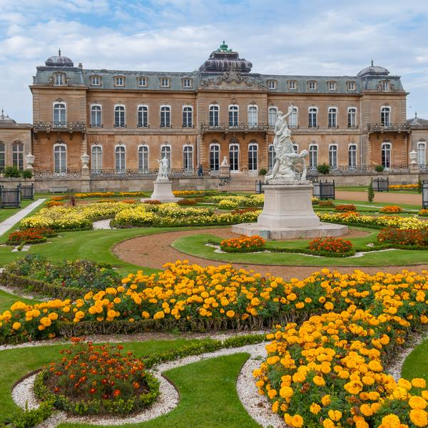 The formal gardens at Wrest Park in Bedfordshire