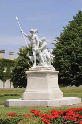 Venus and Adonis statue in the garden at Wrest Park