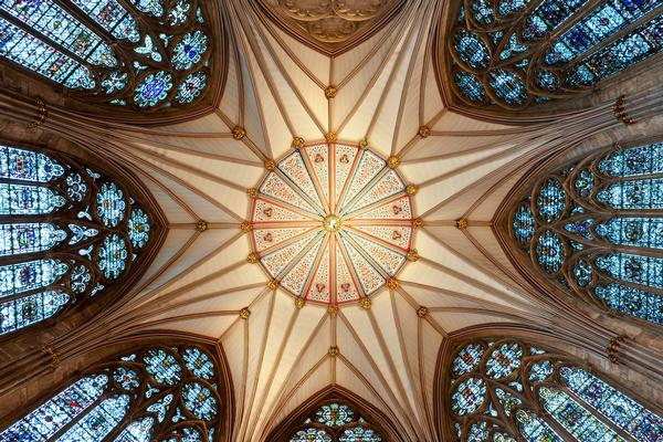 Chapter House ceiling at York Minster