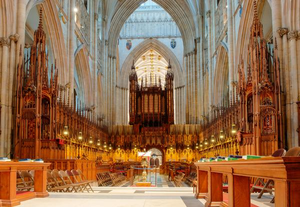 Choir area in York Minster