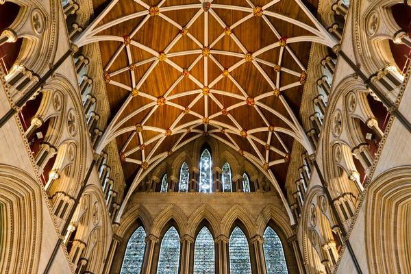 The North Transept roof and Five Sisters Window at York Minster