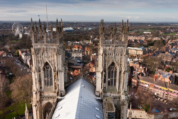 The view from the Central tower of York Minster
